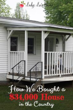 We are finally getting out of the city! Let me tell you the story of our new $34,000 house in the country.