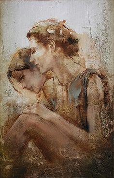 Artist: Pier Toffoletti {contemporary figurative #expressionist #impasto female…