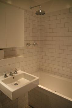 bathroom with metro tiles
