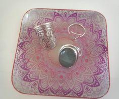 ☾❂☽ Dish Pink Mandala ☾❂☽ www.thirteenblessings.bigcartel.com