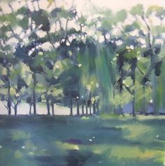 Trees by Lyn Whiteman from her Natural Elements exhibition at Harbour House, March 2015