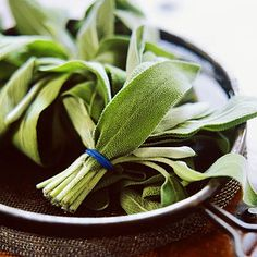 Sage has powerful antioxidant and antiseptic properties.  Fresh or dried, it tastes great on pasta! | health.com
