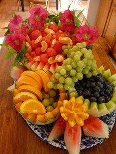 Beautiful fruit arrangement