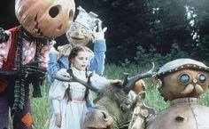 Return to Oz - Jack, Scarecrow, Bilina (the chicken), Tik-Tok, and Gump!