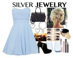 """Silver Jewelry #2"" by ohkally ❤ liked on Polyvore featuring Moschino, Mally, TFNC, Wedgwood, Lancôme, Shiseido, Tiffany & Co., MICHAEL Michael Kors, Yves Saint Laurent and silverjewelry"