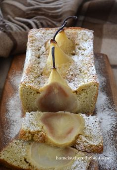 Novel Baking: Cardamom Cake with Whole Pears | Home is Where the Boat Is