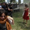 So unfortunate that my board will overflow with pics of brutal reality. It all started when a group of people wanted to save a few trees standing in a park to be demolished, in order to make place for a stonecold mall. #occupygezi