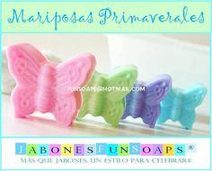 Mariposas en jabón de glicerina, un bello recuerdo de celebraciones esta primavera. funsoaps@hotmail.com Envios a todo México.