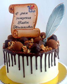 Торт для солидного  мужчины. Торт 2кг в диаметре 20см ,крем чиз, украшен трюфелями из шоколада с арахисовым пралине #торткараганда #тортназаказкараганда #караганда #cakekaraganda #candybarkaraganda #cakeolegra #karaganda