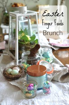 Easter Finger Foods Brunch: the perfect, no fuss Easter brunch menu and decor.