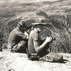 White Feather and his spotter, USMC, Vietnam American Veterans, American War, American History, Vietnam History, Vietnam War Photos, North Vietnam, Hanoi Vietnam, Rifles, Famous Marines