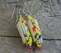 Turquoise jewelry/Native American Indian Earrings/ Turquoise Beaded Earrings and Jewelry