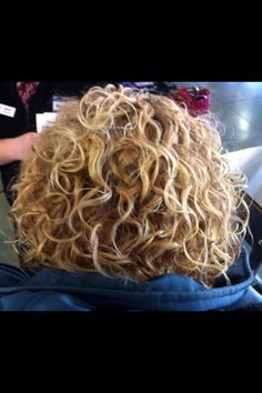This spiral hair style pattern is obtained by using long perm rods which enable tight and cascading spirals/ringlets. Description from pinterest.com. I searched for this on bing.com/images