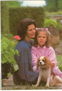 Queen Silvia of Sweden and Crown Princess Victoria