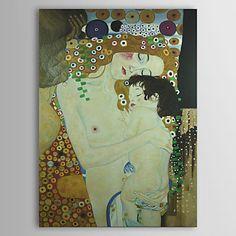 Η μητέρα και το παιδί (λεπτομέρεια από τις τρεις ηλικίες της γυναίκας) c1905 του Γκούσταβ Κλιμτ ποιότητα μουσείο με φύλλο χρυσού – EUR € 123.74