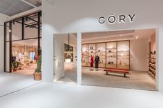 The store front of Cory. Inside you will find many new products including Multi-Lane, Qubo 25 and Mono 20 P/L. Retail Manager, Retail Facade, Retail Interior Design, Store Interiors, Brick And Mortar, Boutique, Storage, Furniture, Home Decor