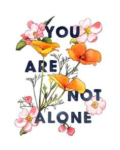 You're Not Alone, an art print by Megan Kott Mental Health Advocate, Mental Health Matters, Mental Health Quotes, Mental Health Awareness, Mental Health Definition, Everything Will Be Fine, Zentangle, Alone Quotes, Quotes Quotes