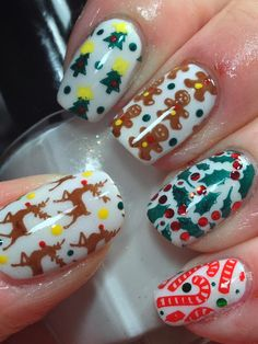 50 Beautiful Stylish and Trendy Nail Art Designs for Christmas Xmas Nails, Christmas Nails, Winter Nail Art, Winter Nails, Hoilday Nails, Christmas Nail Art Designs, Finger, Toe Nail Designs, Nail Stamping