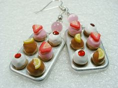 Muffin Pan / cupcakes Earrings Polymer Clay by GiraffesKiss
