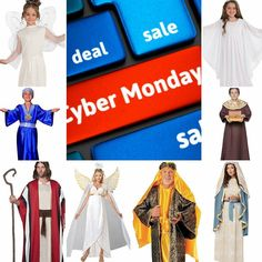 Make Cyber Monday work in your favor! Get all the goodies you need to be ready for your nativity scene or Christmas pageant.  We have tons of costumes wigs hats halos wings and other accessories to make your holiday the best ever!  Contact us at 585-482-8780 for more information or check out select costumes and accessories on our Amazon page or website www.arlenescostumes.com  #christmas #roc #jesus #angel #wiseman #Mary #shepherd #joseph