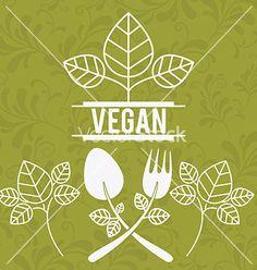 Organic food design vector vegan logo - by grmarc on VectorStock®