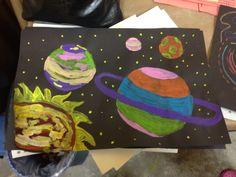 Planet paintings space art