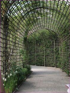 40 Stunning Covered Garden Walkway Ideas – # - All For Garden Garden Frame, Garden Arbor, Garden Trellis, Garden Paths, Diy Garden, Covered Walkway, Covered Garden, Back Gardens, Outdoor Gardens