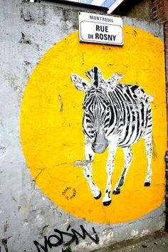 Mosko & associés - street art - Montreuil, rue de Rosny