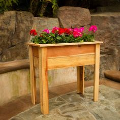 Hollis Wood Products 36 in. Red-Wood Raised Planter Box-12003 - The Home Depot