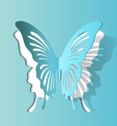 Butterfly paper cutting vector-2 1000Vectors.com