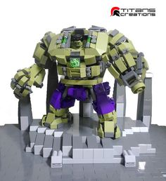 Hulk's Gamma Suit by tcflic Lego Ironman, Lego Hulk, Marvel Dc, Lego Marvel, Lego Mecha, Lego Juniors, Lego Bots, Lego Ninjago, Spiderman