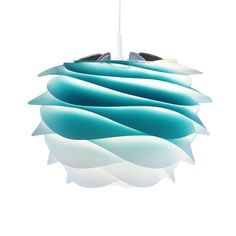 Vita CARMINA - Lampa wisząca Tie&Dye Azurowy Śr.34cm + Kabel 2,1cm
