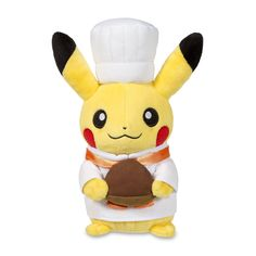 Pikachu Celebrations Pastry Chef Poké Plush (Standard Size) - 8 1/4""