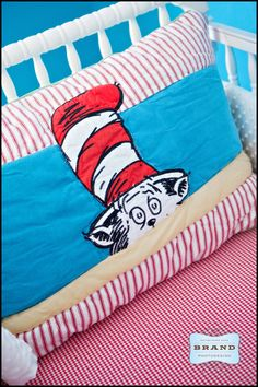 Dr Seuss baby pillow