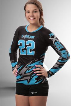 Bolt 3-Color Women's Sublimated Long sleeve Volleyball Jersey – Rox Volleyball
