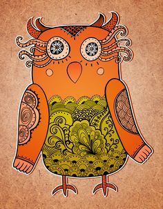 Addicted to OWL by Pridumala , via Behance