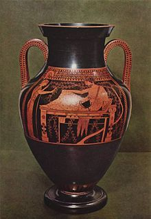 Bilingual amphora by the Andokides Painter, c. 520 BC (Munich) Pottery comprises a large part of the archaeological record of Ancient Greece. It has exerted a large influence on our understanding of Greek society by tracing the development of Greek art through its vestiges on a derivative art form.