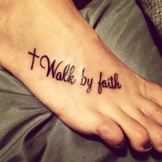 faith tattoo #faith #foot #cross