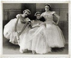"""The famous """"Baby Ballerinas"""" Riabouchinska, Toumanova & Baronova"""
