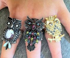 Owl rings...I don't have one. :(