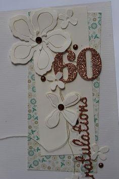 Karte zum 60. Geburtstag mit SU Botanical Blooms