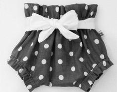 Little Diva Baby Bloomers Polka Dot Monogram by JensCraftCorner