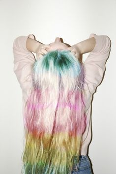 Rainbow hair. :)