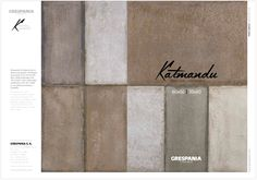 Katmandu has become one the most successful series at #Cevisama. A new take on traditional #craftsman style #flooring with many applications to #urban spaces and public places. ➢ Download the full #catalogue on the following link.