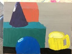 Still life acrylic painting project for K-5