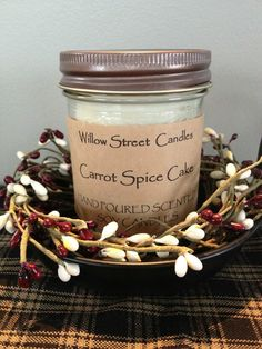 Willow Street Candles Hand poured scented soy candles & melts - locally made in Stony Plain, AB.  https://m.facebook.com/willowstreetcandles/