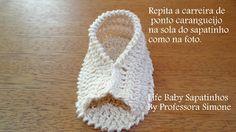 """Sapatinhos Para Bebê - Life Baby: Passo a passo Sapatinho em Crochê """"Capitu"""""""