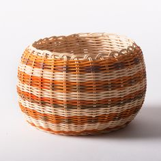 Orange & Brown Cherokee Double-wall Basket - Native American Art - National Cowboy Museum