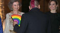 La Reina Letizia y Doña Sofía saludan a sus invitados en La Almudaina. Palacio Real de La Almudaina. Palma de Mallorca, 05.08.2015