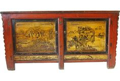 """Antique Chinese Double-Bay Cabinet  China, Early 19th. Century  77""""L x 20.5""""W x 40""""H  ($7,800.00)  $1,999.00  OneKingsLane.com"""